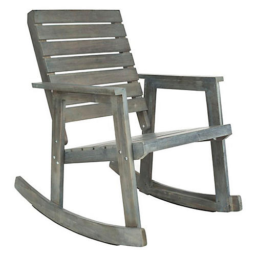 Roma Rocking Chair, Light Gray