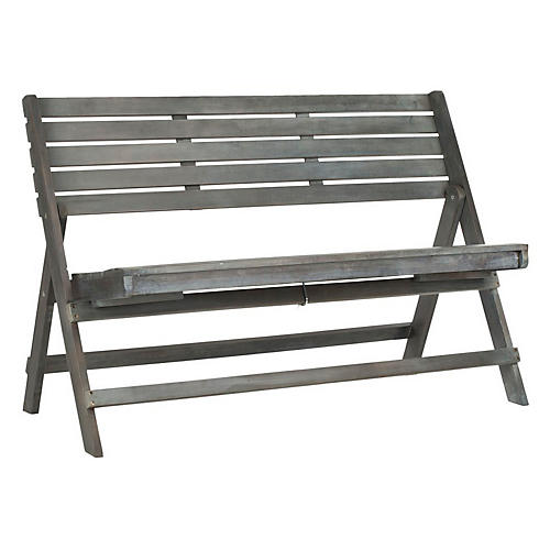 Gabelli Folding Bench, Gray