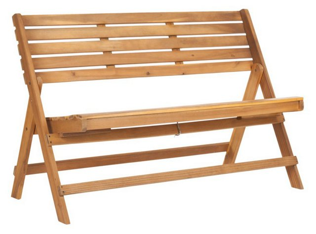 "Outdoor Cabot 48"" Folding Bench, Natural"