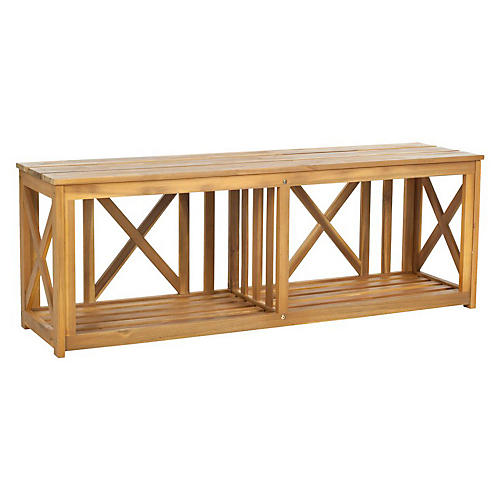 "Outdoor Stratford 51"" Bench, Natural"