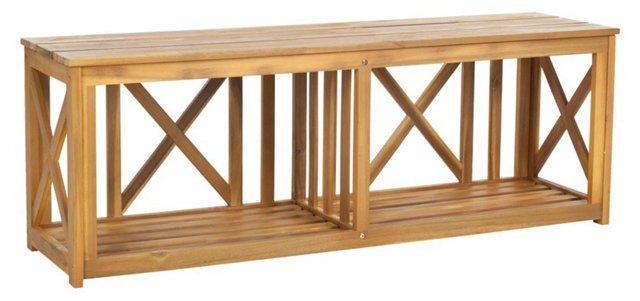 "Stratford 51"" Outdoor Bench, Natural"
