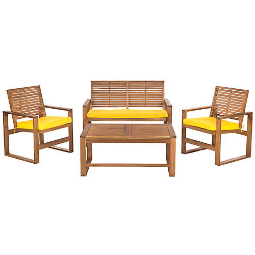 Outdoor Mansfield 4-Pc Set, Yellow