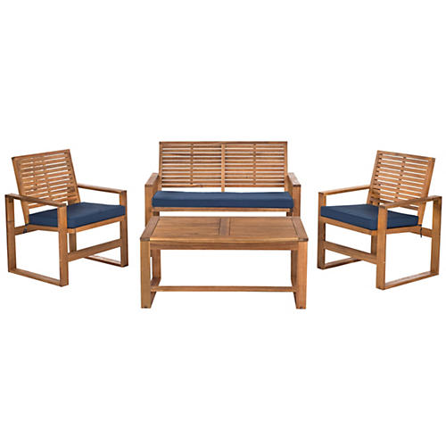 Mansfield 4-Pc Lounge Set, Navy