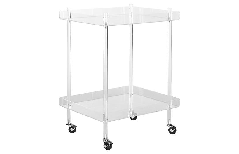 Bailey Bar Cart, Clear