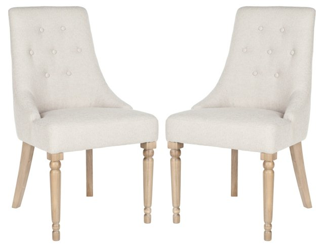 Natural Serena Dining Chair, Pair