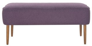 Milo Bench, Plum   Standard Benches   Storage Furniture U0026 Benches   Entry    Furniture | One Kings Lane