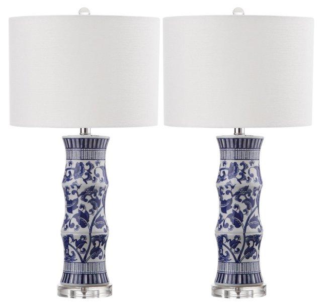 Hanneli Table Lamp Set, Motif/Silver