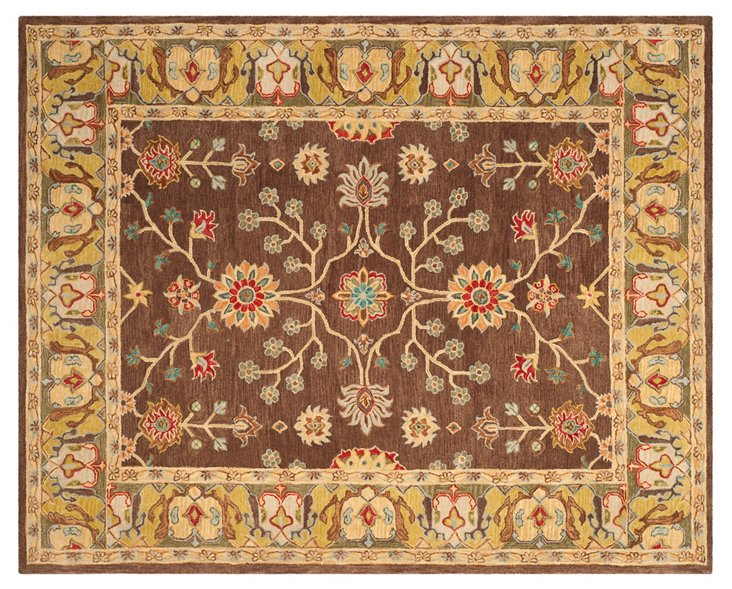 Rosa Rug, Brown/Gold
