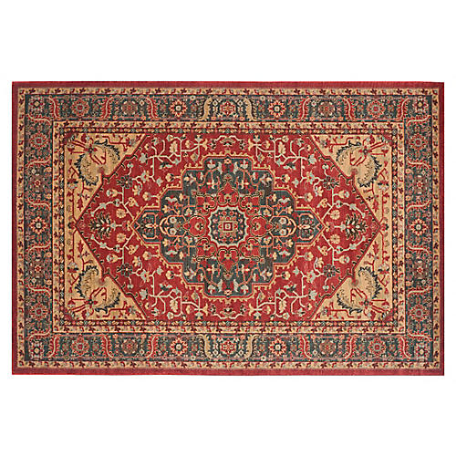 Viviana Rug, Navy/Red