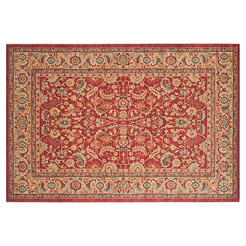Pacey Rug, Red/Natural