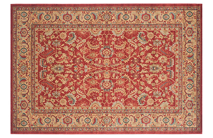 Safavieh Mahal Red / Natural Rug - 2' 2 X 4'