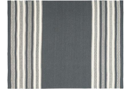 Ovar Flat-Weave Rug, Gray