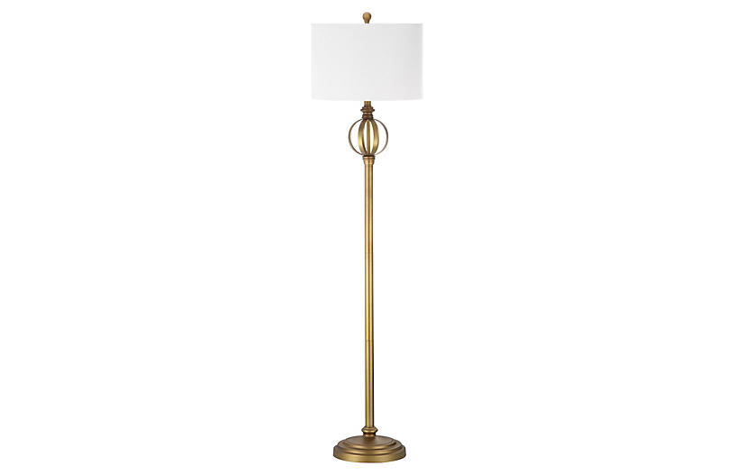 Townsman Floor Lamp, Gold