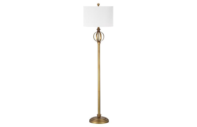 Townsman Floor Lamp, Gold
