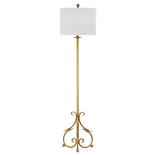 Elisa Baroque Floor Lamp, Gold