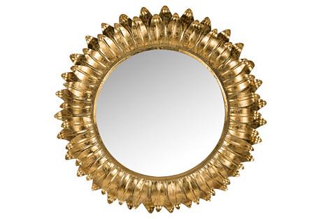 Sunburst Mirror, Gold
