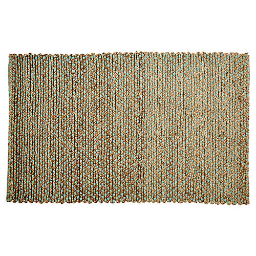 Siena Jute Rug, Natural/Green