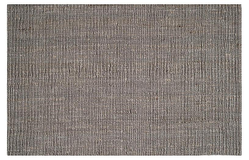 Ale Textured Jute Rug, Light Gray