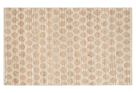 Flat Jute-Blend Rug, Gray/Tan