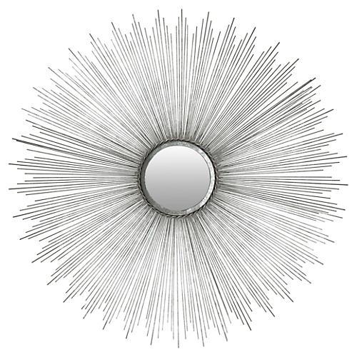 Sunburst Wall Mirror, Iron