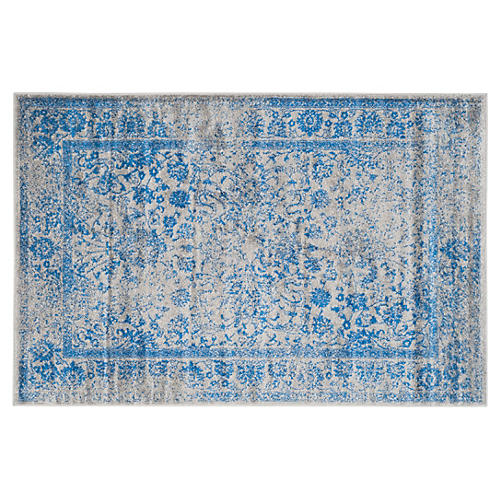 Ajax Rug, Gray/Blue
