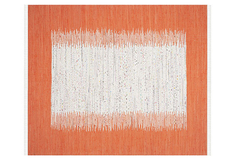Cay Flat-Weave Rug, Orange