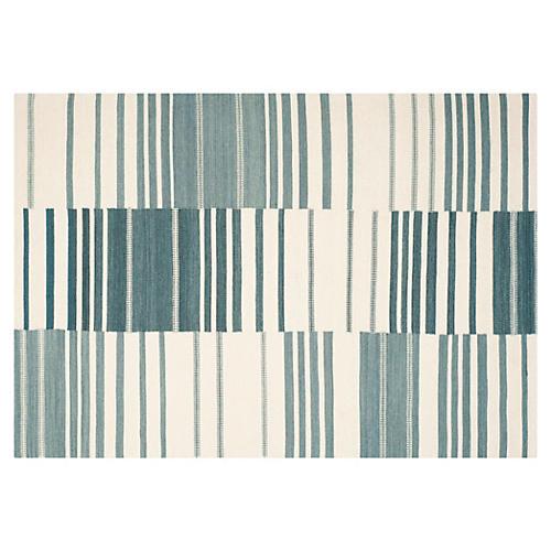 Arlin Flat-Weave Rug, Blue/Ivory