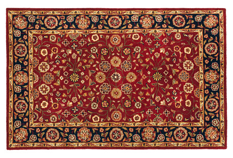 Holmes Rug, Red/Navy