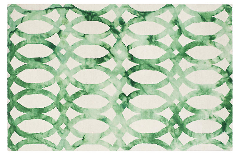 Iwona Rug, Ivory/Green