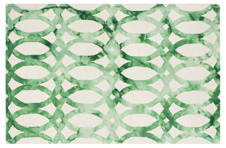 One Kings Lane Iwona Rug Ivory Green