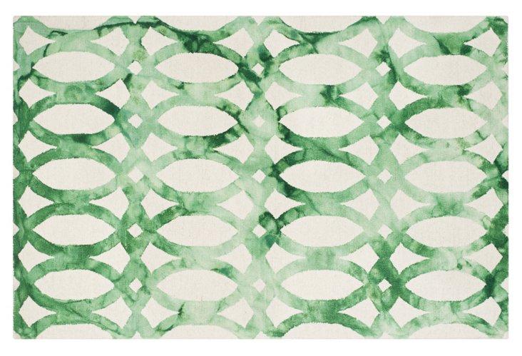 One Kings Lane Iwona Rug Ivory Green
