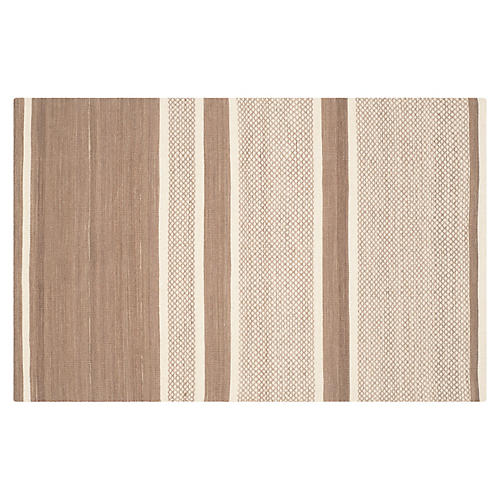 Jola Kids' Rug, Brown/Ivory