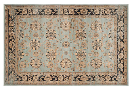Maksym Rug, Light Blue/Black