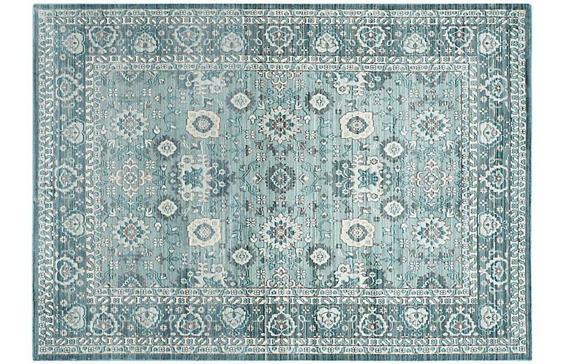 Akram Rug, Alpine Blue
