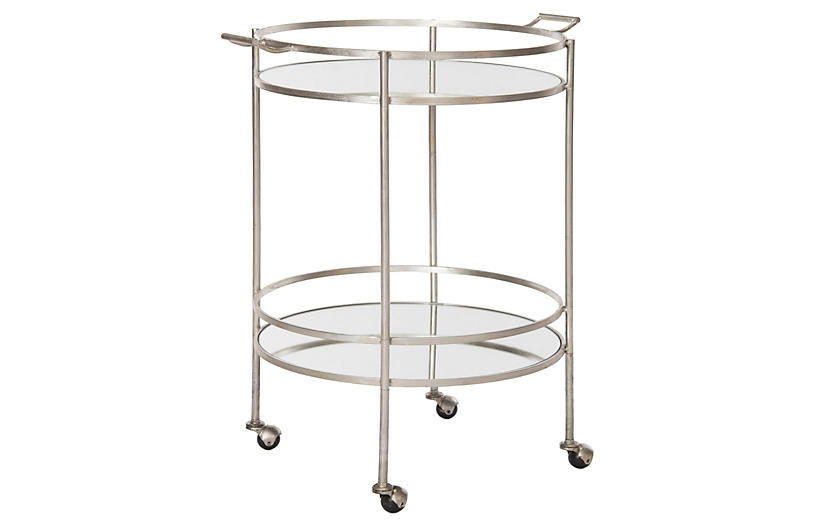 Larisa Bar Cart, Silver
