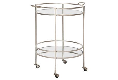 Larisa Bar Cart, Silver