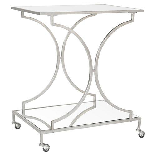 Ivanna Bar Cart, Silver
