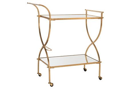 Luiza Bar Cart, Gold