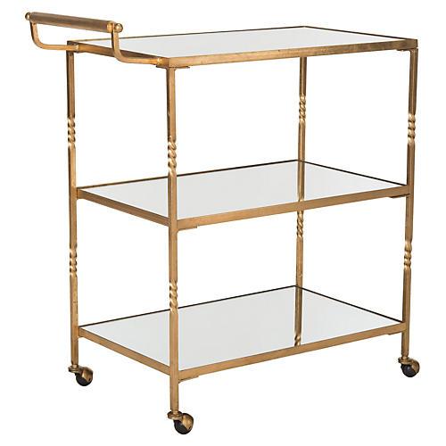 Andrei Bar Cart, Gold
