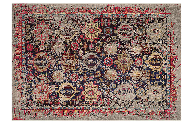 Evelina Rug, Gray/Multi