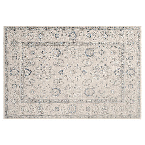 Grover Rug, Light Gray/Ivory