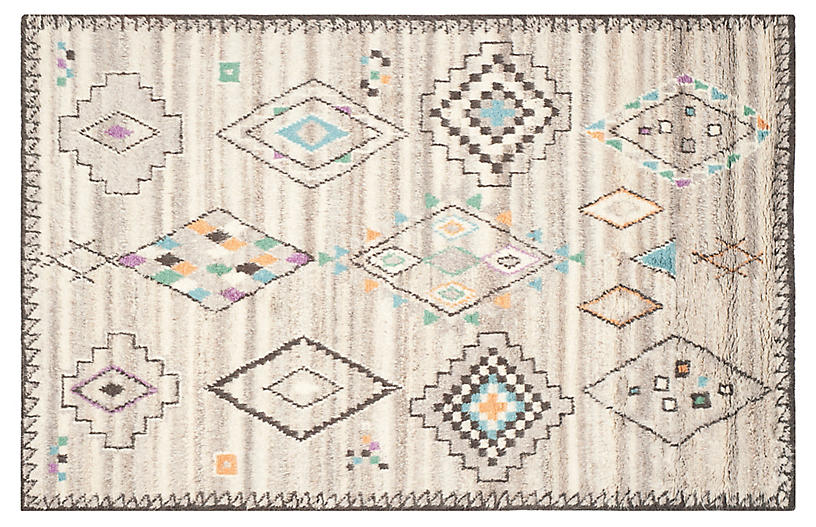 Lomond Hand-Knotted Rug, Natural/Multi