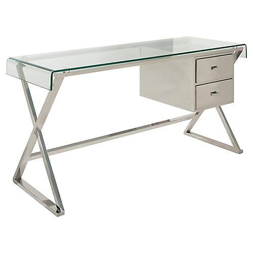 Trachenburg Desk, Silver