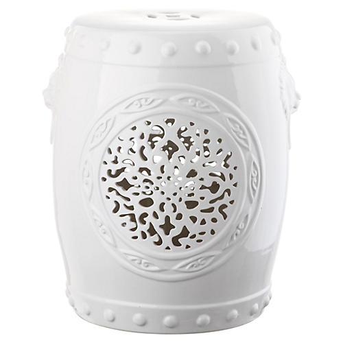 Monroe Garden Stool White  sc 1 st  One Kings Lane & Garden Stools - Living Room - Furniture | One Kings Lane islam-shia.org