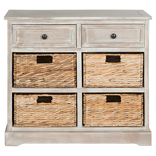 Robbie Storage Unit, White