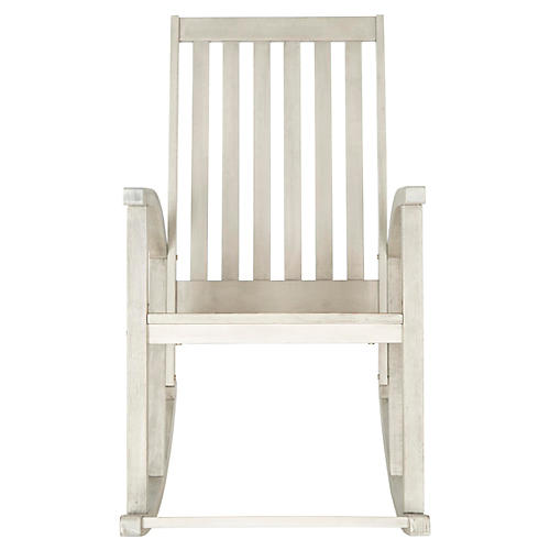 Outdoor Maris Rocking Chair, Off-White