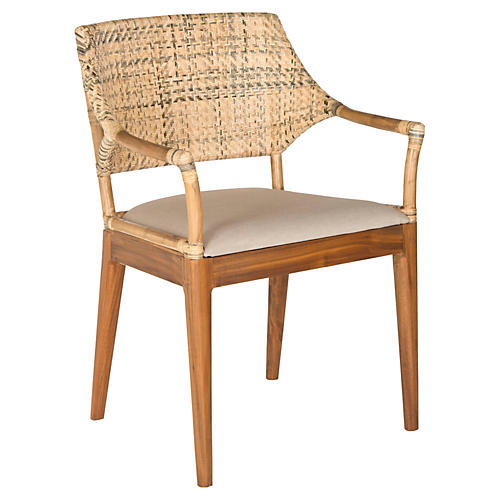Lorelei Armchair, Honey/Natural