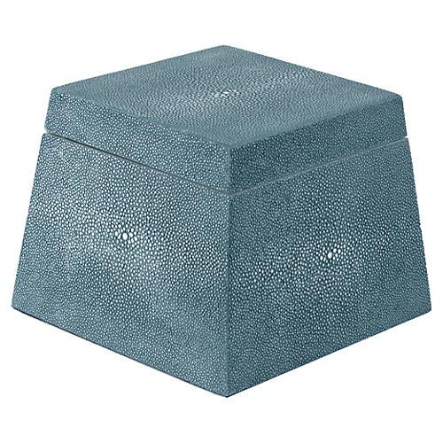 Shagreen-Style Birdie Box, Teal