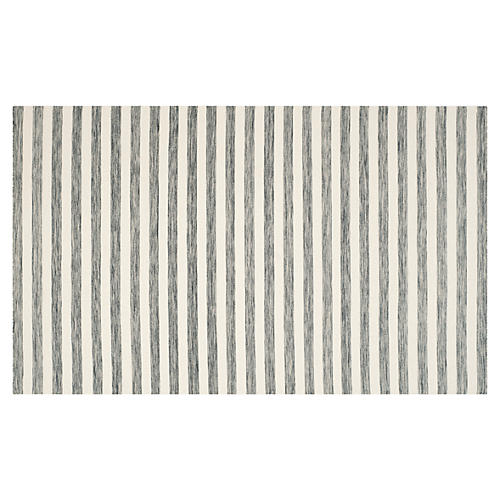 Anyu Flat-Weave Rug, Gray