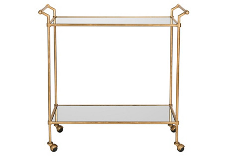 Finn Bar Cart, Gold